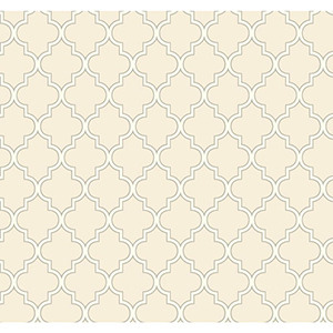 Waverly Cottage Creamy White and Grey Buzzing Around Trellis Wallpaper