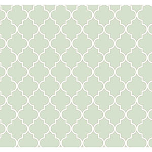 Waverly Cottage Icy Blue and Rich Cream Buzzing Around Trellis Wallpaper