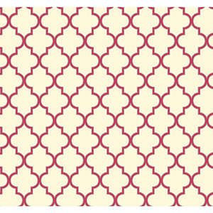Waverly Cottage Cream, Sizzling Pink and Sterling Silver Buzzing Around Trellis Wallpaper