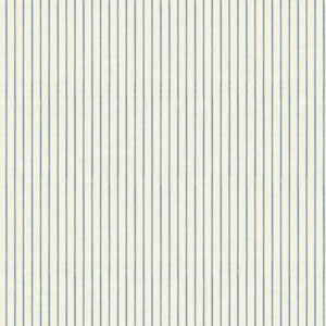 Waverly Cottage White and Blue Highwire Stripe Wallpaper