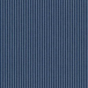 Waverly Cottage Ink Blue and Chalk White Highwire Stripe Wallpaper