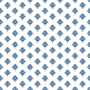 Waverly Cottage White and Ink Blue Bling It on Wallpaper