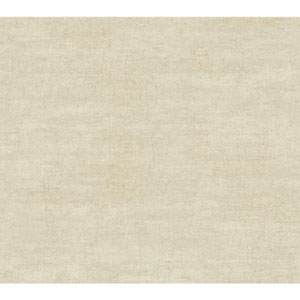 Vintage Luxe Scroll Beige and Cream Textured Wallpaper