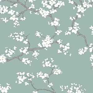 Florence Broadhurst Blue Branches Wallpaper