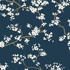 Florence Broadhurst Navy Branches Wallpaper