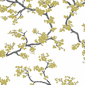Florence Broadhurst Gold Branches Wallpaper