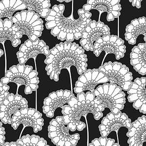 Florence Broadhurst Black Japanese Floral Wallpaper