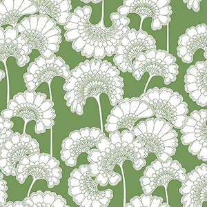 Florence Broadhurst Green Japanese Floral Wallpaper