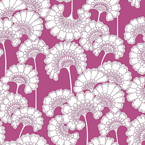 Florence Broadhurst Red Japanese Floral Wallpaper