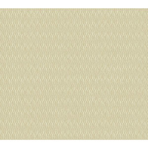 Filigree Dancing Ribbon White Wallpaper