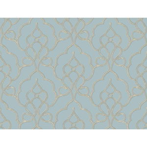 Filigree Tiara Blue Wallpaper