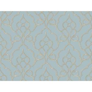 Filigree Tiara Blue Wallpaper