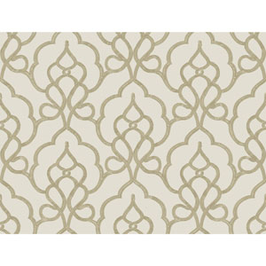 Filigree Tiara Beige Wallpaper