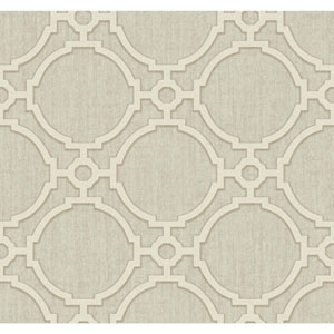 Filigree Oculus Beige Wallpaper
