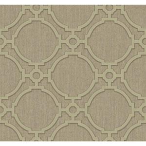 Filigree Oculus Brown Wallpaper