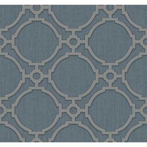 Filigree Oculus Dark Blue Wallpaper