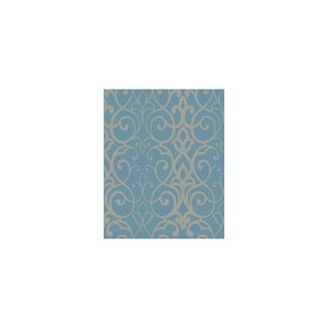 Filigree  Trellis Blue Wallpaper