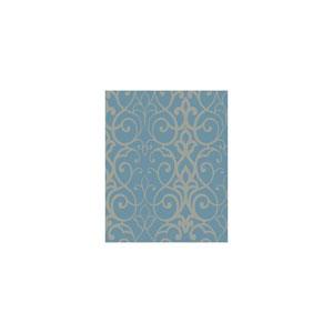 Filigree  Trellis Blue Wallpaper