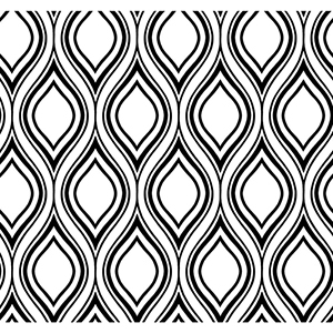Inspired by Color White and Black Ogee Wallpaper
