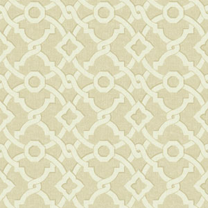 Waverly Global Chic Beige and Cream Artistic Twist Wallpaper