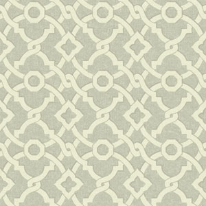 Waverly Global Chic Grey and Cream Artistic Twist Wallpaper