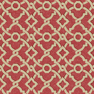Waverly Global Chic Coral and Beige Artistic Twist Wallpaper