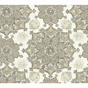 Waverly Global Chic Cream and Tan Incense Wheet Wallpaper