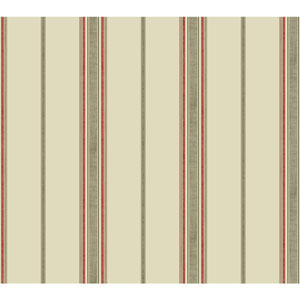 Waverly Kids Beige and Taupe Incense Stripe Wallpaper
