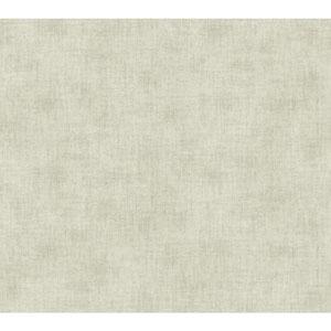 Waverly Global Chic Cream and Grey Texture Broken Linen Wallpaper