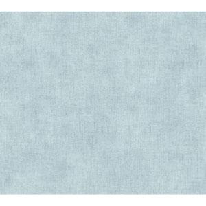 Waverly Global Chic Aqua and Grey Texture Broken Linen Wallpaper