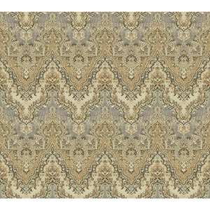 Waverly Global Chic Tan and Beige Palace Safari Wallpaper