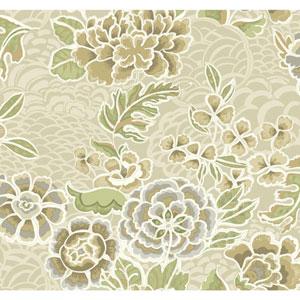 Waverly Global Chic Beige and Tan Zen Garden Wallpaper