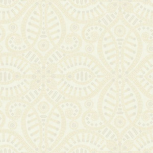 Waverly Global Chic Cream and Beige Belle of the Ball Wallpaper