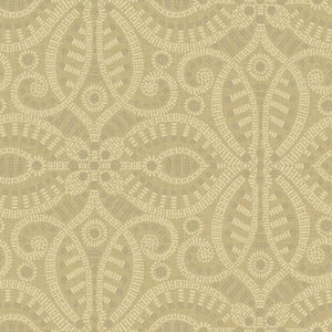 Waverly Global Chic Tan and Grey Belle of the Ball Wallpaper