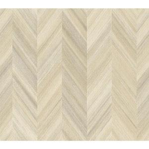 Ashford Geometrics Beige Gradient Chevron Wallpaper