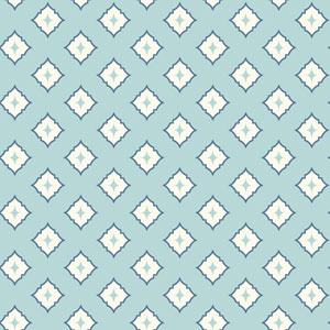 Ashford Geometrics Blue and White Moroccan Spot Wallpaper