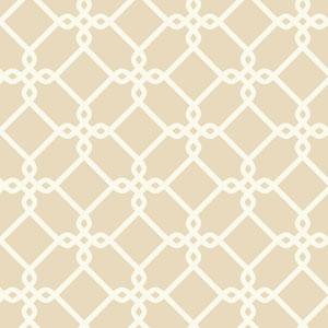 Ashford Geometrics Beige and White Threaded Links Wallpaper