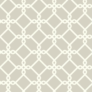 Ashford Geometrics Light Grey and White Threaded Links Wallpaper