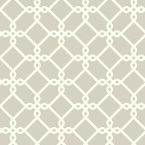 Ashford Geometrics Light Grey and White Threaded Links Wallpaper