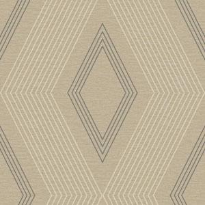 Ashford Geometrics Taupe and Grey Aspen Wallpaper