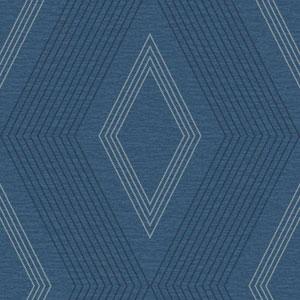 Ashford Geometrics Blue and Grey Aspen Wallpaper