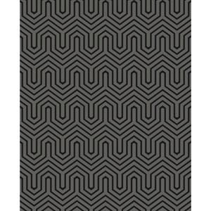 Ashford Geometrics Black Pearl and Black Labyrinth Wallpaper