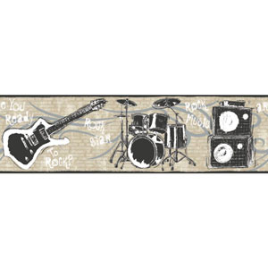 Growing Up Kids Jam Session Removable Wallpaper Border