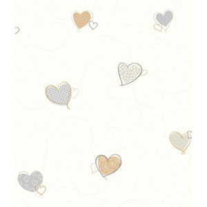 Growing Up Kids Colorful Hearts Removable Wallpaper