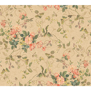 Inspired by Color Deep Beige and Hint of Green Wallpaper