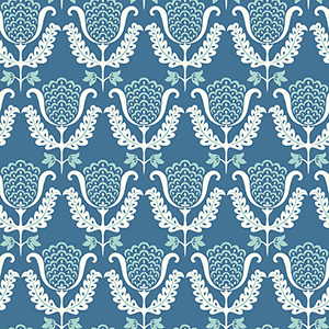 Waverly Garden Party Blue Wallpaper