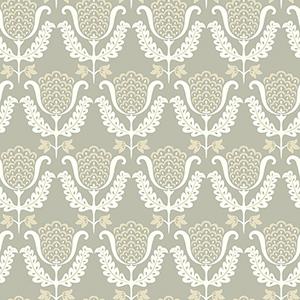 Waverly Garden Party Gray Wallpaper