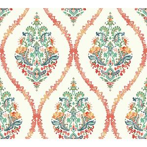 Waverly Garden Party Pink Wallpaper