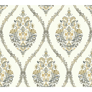 Waverly Garden Party Neutral Wallpaper