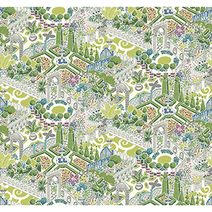 Waverly Garden Party Green Wallpaper